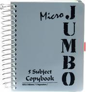 Блокнот Micro Jumbo A6 150 аркушів сірий з малюнком Mintra