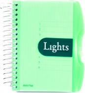 Блокнот Lights A6 150 листів зелений з малюнком Mintra