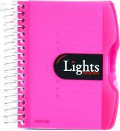 Блокнот Lights A6 150 аркушів червоний з малюнком Mintra