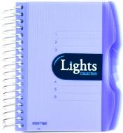 Блокнот Lights A6 150 аркушів синій з малюнком Mintra