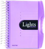 Блокнот Lights A6 150 аркушів фіолетовий з малюнком Mintra