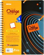 Блокнот Orange A4 90 аркушів чорно-помаранчевий з малюнком Mintra