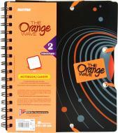 Блокнот Orange A5 90 аркушів чорно-помаранчевий з малюнком Mintra