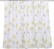 Комплект тюлей для кухни 2х140х160 см Цветы зеленые La Nuit