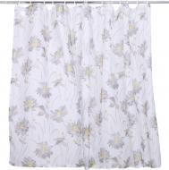 Комплект тюлей для кухни 2х140х160 см Цветы серые La Nuit