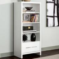 Книжный шкаф DiPortes Марсель 5 Белый  (54/ 128/ 35)
