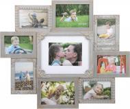 Коллаж на 9 фото SM00635 серый с золотым 10x15/18x13 см