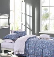 Комплект постельного белья Sapphire Beauty семейный синий с рисунком La Nuit