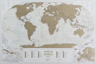 Скретч-карта Travel Map Geography World (на английском)