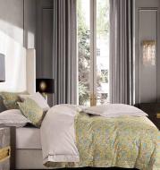 Комплект постельного белья Yellow Beauty 2 желтый с принтом La Nuit
