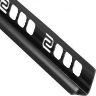 Профіль ПВХ для плитки кутовий внутрішній 24 SALAG 2,5 м 9 мм чорний
