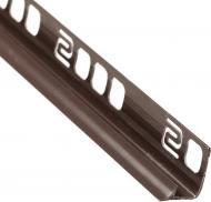 Кутник для плитки Salag внутрішній 10 ПВХ 9 мм 2,5м темно-коричневий