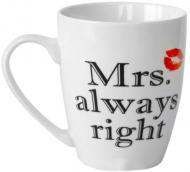 Чашка Mrs. always right 360 мл 21-272-050 Keramia