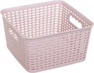 Кошик для зберігання Gondol Plastic G560 KANGAROO-Square пудра 115x215x215 мм