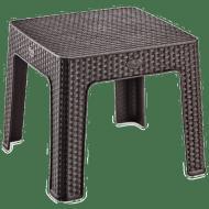 Столик для кофе под ротанг Irak Plastik 45x45 Темно-коричневый (5816)