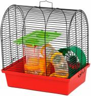 Клітка Лорі Бунгало 2 Люкс оцинковане покриття 33,5x23x36,5 см