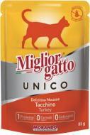 Корм Morando MigliorGatto Unico only Turkey для котів, з індичкою 85 г