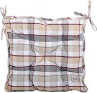 Подушка на стілець Scotland Brown 40x40 см коричнева клітинка La Nuit