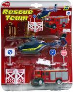 Ігровий набір Simba Міні Рятувальна служба з вертольотом і пожежною машиною Dickie Toys 3315386