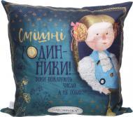 Подушка декоративна Аліса Годинники 43x43 см синій Gapchinska