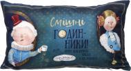 Подушка декоративна Аліса Годинники 30x50 см синій Gapchinska