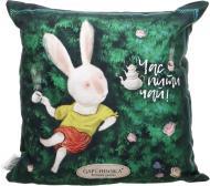 Подушка декоративна Аліса Чаювання 43x43 см зелений Gapchinska