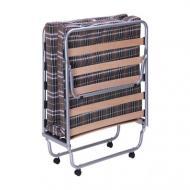 Кровать раскладная AMF Art Metal Furniture Классик с матрасом Килт-4 190х80 см алюминий