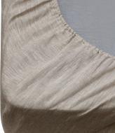 Простынь на резинке ПЛР-72 160x190 см серый ЛінТекс