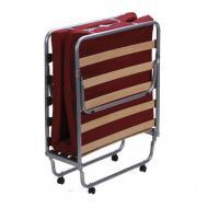 Кровать раскладная AMF Art Metal Furniture Классик с матрасом Фортуна-28 190х80 см алюминий