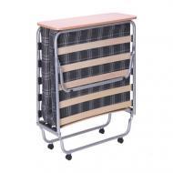Кровать раскладная AMF Art Metal Furniture Классик-П с матрасом Килт-1 190х80 см алюминий