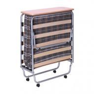 Кровать раскладная AMF Art Metal Furniture Классик-П с матрасом Килт-4 190х80 см алюминий