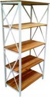 Этажерка LEVOR Wood Лофт на 5 полок 1520x750x400 мм белый