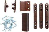 Комплект кріплень на двері Vektor для москітної сітки 130х150 мм коричневий
