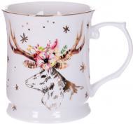 Чашка для чая Рождественский олень 400 мл 924-449 Lefard