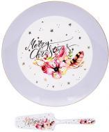 Блюдо для торта Різдвяний олень 27 см 924-455 Lefard