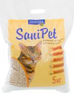 Наповнювач для котячого туалету  Природа Sani Pet натуральний5 кг