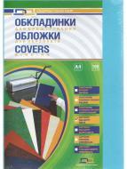 Обкладинка для брошурування D&A картонна Delta color A4 блакитна 230 мкм 100 шт.