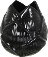 Ваза керамическая черная Флора бутон 3002 19,5 см Eterna