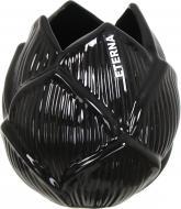 Ваза керамическая черная Флора бутон 3003 14 см Eterna