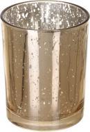 Свічник скляний Mercury 10х10х12 см