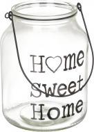 Свічник скляний Home sweet home