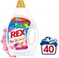 Гель для машинного та ручного прання REX Color Ароматерапія з ефірними оліями та ароматом малазійської орхідеї і сандалу 2 л{/