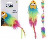 Іграшка для котів Миша зі штучним хутром різнокольорова