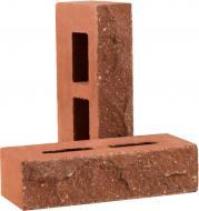 Цегла гіперпресована РУБЕЛЭКО Дикий камінь пустотіла клінкер (КСПА4) червоний