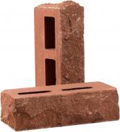 Цегла гіперпресована РУБЕЛЭКО Дикий камінь пустотіла тичкова клінкер (КСПБ4) червоний