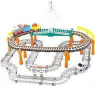 Залізниця LiXin з потягом та машинкою 74х60 см 9910