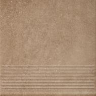 Клинкерная плитка Mattone Sabbia Brown Stopnica Prosta 30x30 Ceramika Paradyz