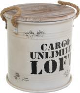 Бочка декоративная Cargo Loft белый YA11185M
