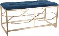 Банкетка декоративна 90х40х45 см синя