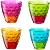 Набір склянок кольорових Dots Funny 250 мл 4 шт. Bormioli Rocco
